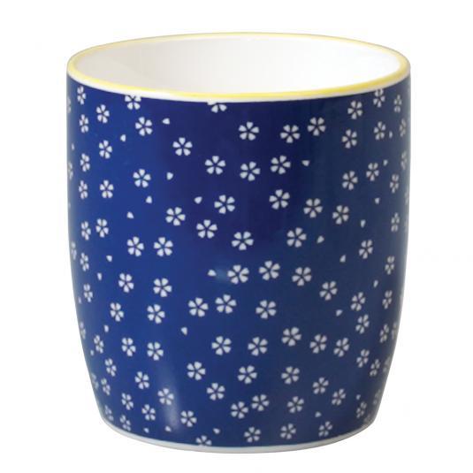 Blue Ceramic Mug Petite Daisy