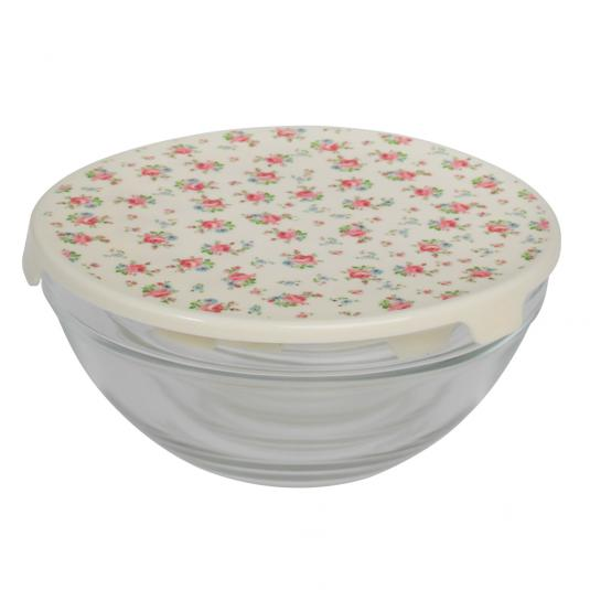 5 La Petite Rose Storage Glass Bowls