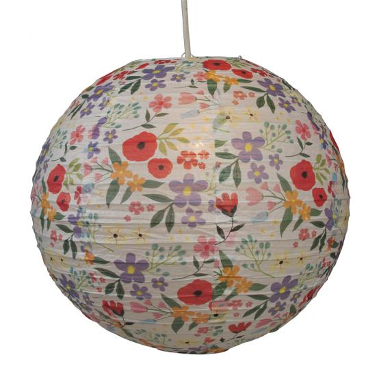 Summer Meadow Paper Lampshade
