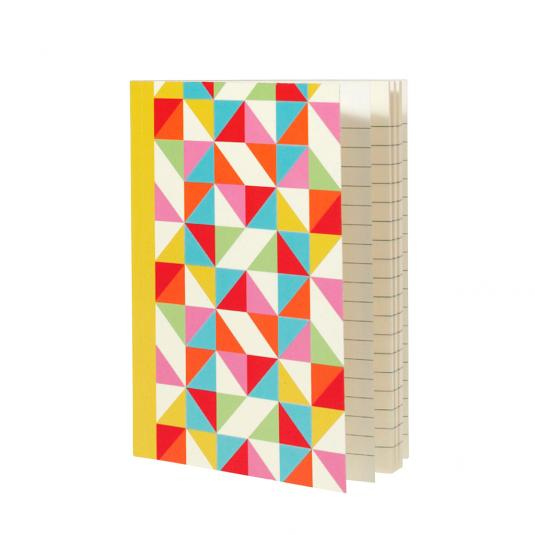 Multicolour Geometric A6 Notebook