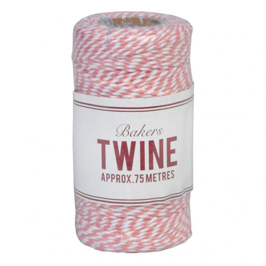 Bakers Twine Pink And White