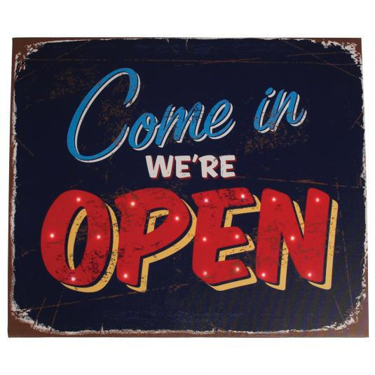 Come In We're Open Light Up Sign