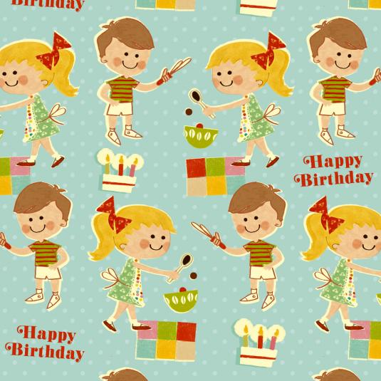 Home Baking Wrapping Paper