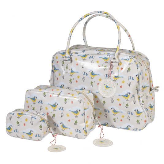 Blue Tit Weekend Bag Wash Bag and Make Up Bag