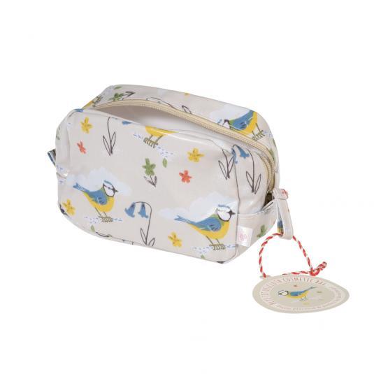 Blue Tit Bird Print Makeup Bag