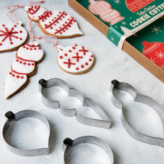 Set Of 4 Bauble Cookie Cutters