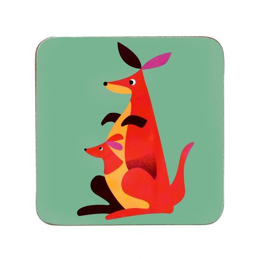 Colourful Creatures Kangaroo Coaster