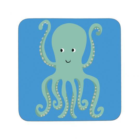 Colourful Creatures Octopus Blue Coaster