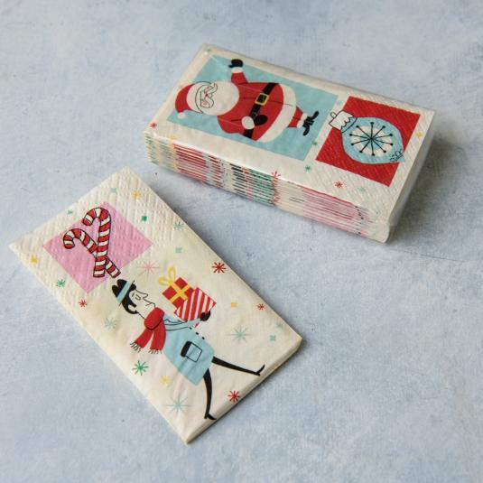 Pack Of Festive Family Christmas Pocket Tissues