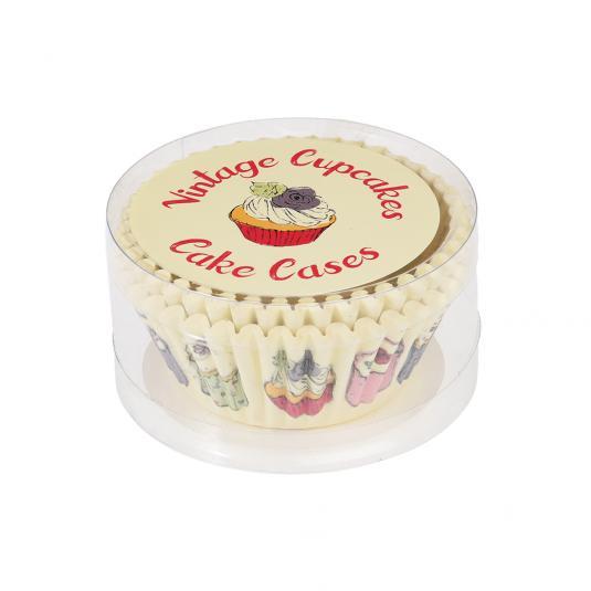 50 Vintage Cupcake Cake Cases