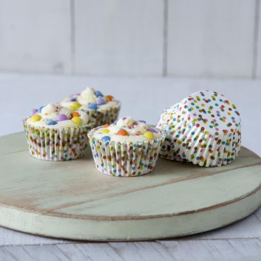 50 Confetti Cake Cases