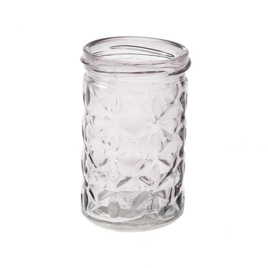Gray Glass Tea light Holder