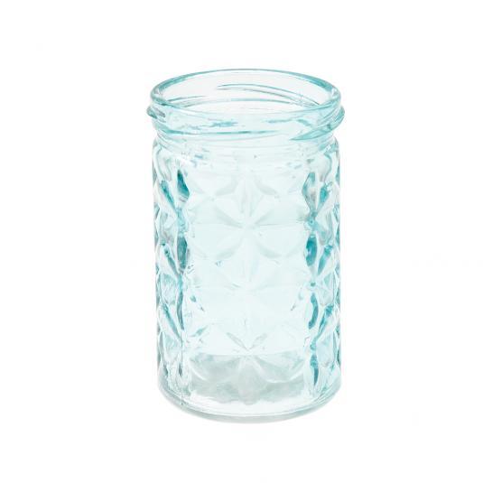 Light Blue Glass Tea light Holder