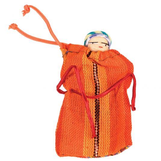 Handmade Guatemalan Worry Doll in a Bag