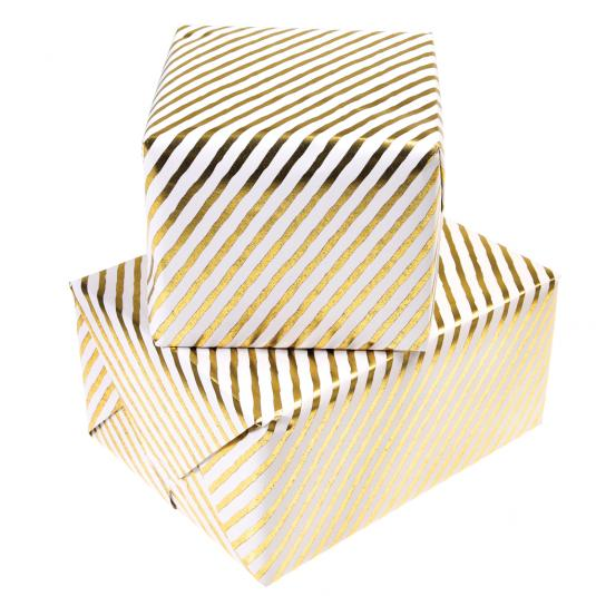 Gold Stripes Wrapping Paper