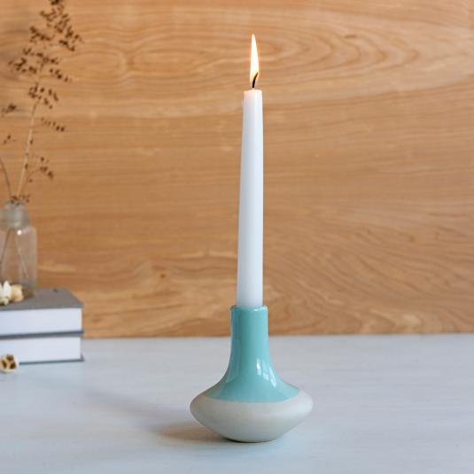 Paloma Ceramic Candle Holder Blue
