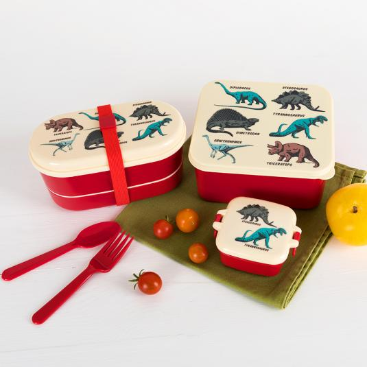 Dinosaur design lunch time accessories bento box sandwich lunch box and snack pot