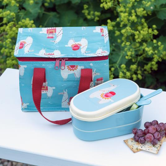 llama lunch accessories bento box and lunch bag