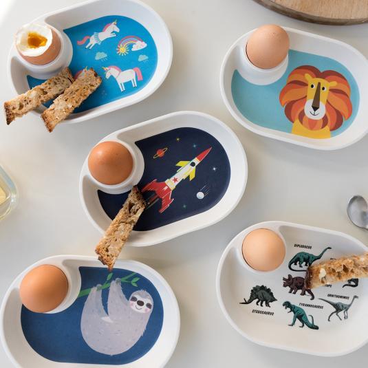 kid's Bamboo Egg Plates