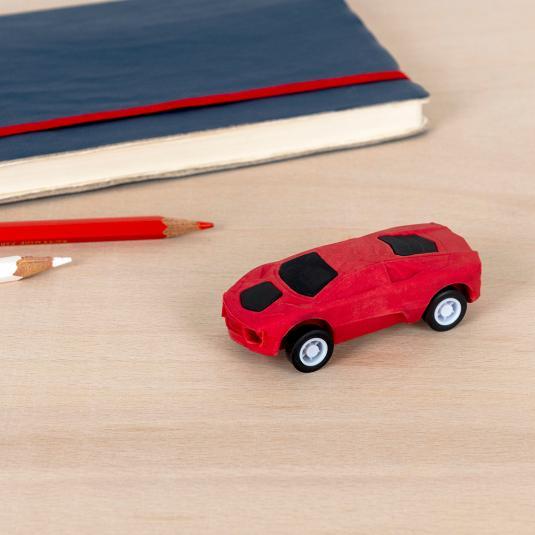 Red Pull Back Super Car Eraser