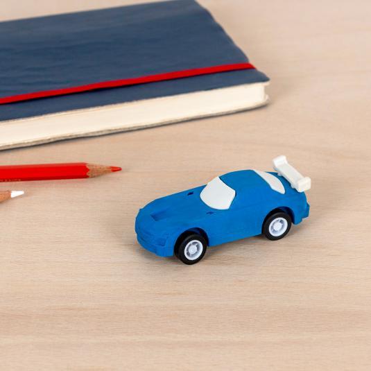 Blue Pull Back Super Car Eraser