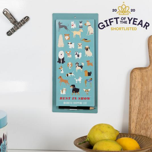 Show dogs magnetic shopping list with pencil