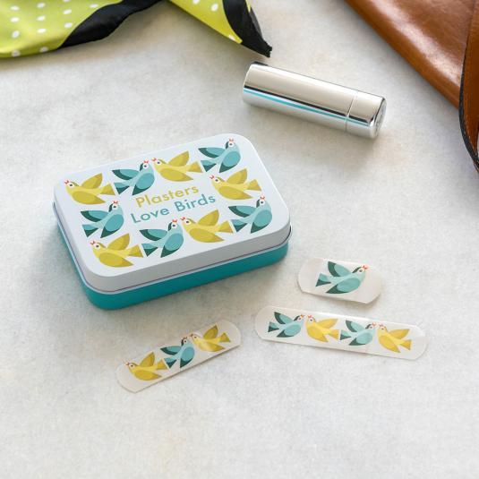 love birds printed plasters