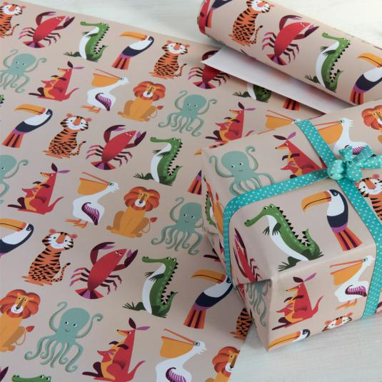 Animal Print Gift Wrapping Paper