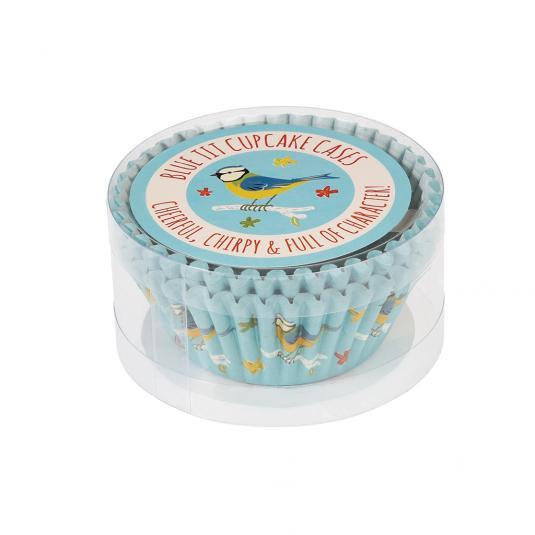 50 Blue Tit Bird Print Cupcake Cases