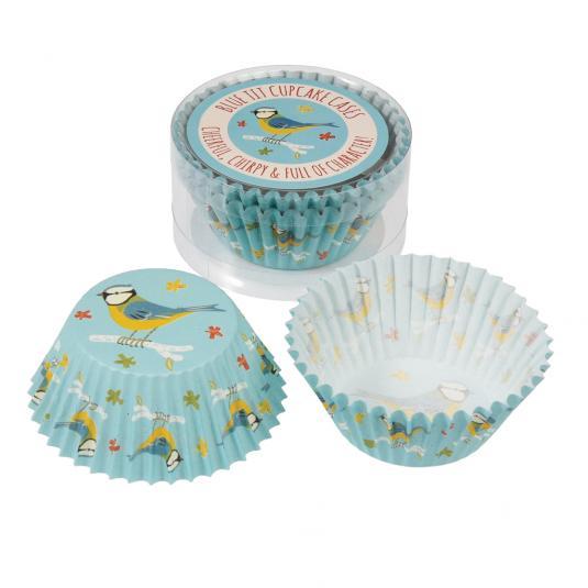 50 Blue Tit Fairy Cake Cases
