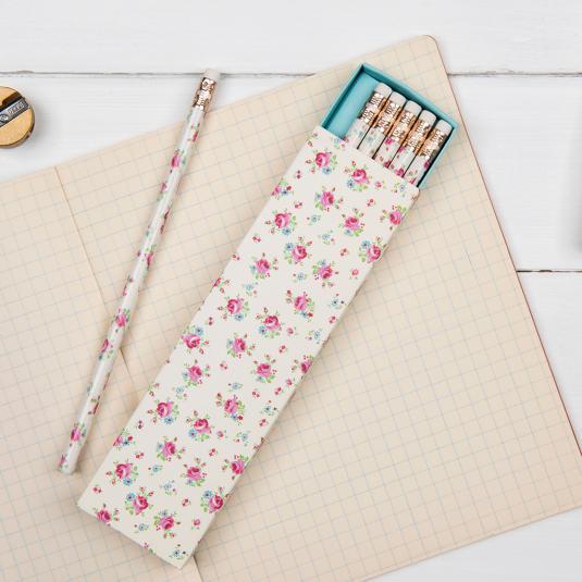 6 La Petite Rose Pencils In A Box