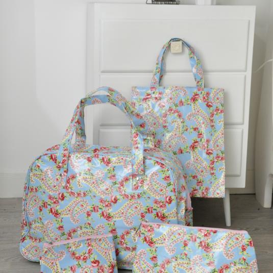 Paisley Park design Oilcloth Shopping Bag