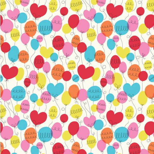 Baby Balloon Wrapping Paper (5 Sheets)