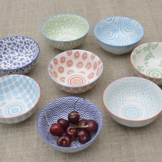 Japanese Style Porcelain Snack Bowls