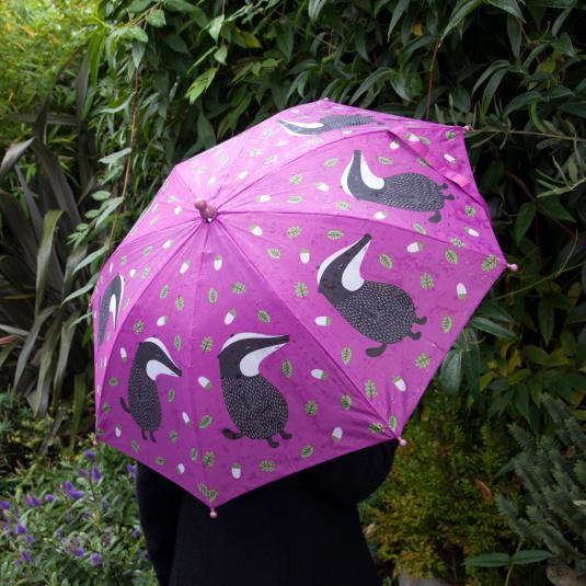 Childrens Umbrella Mr Badger