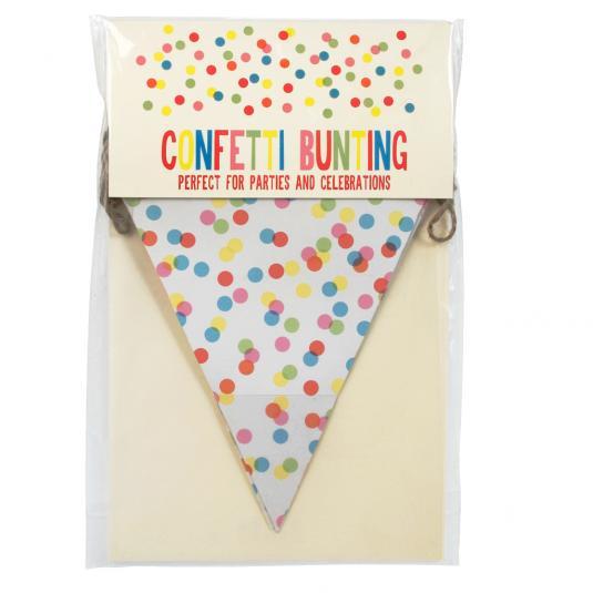 Confetti Print Paper Bunting