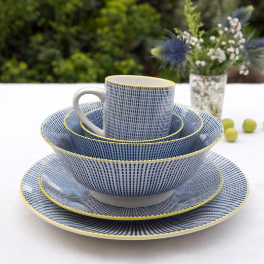 Graphic Dash Design Porcelain Tableware