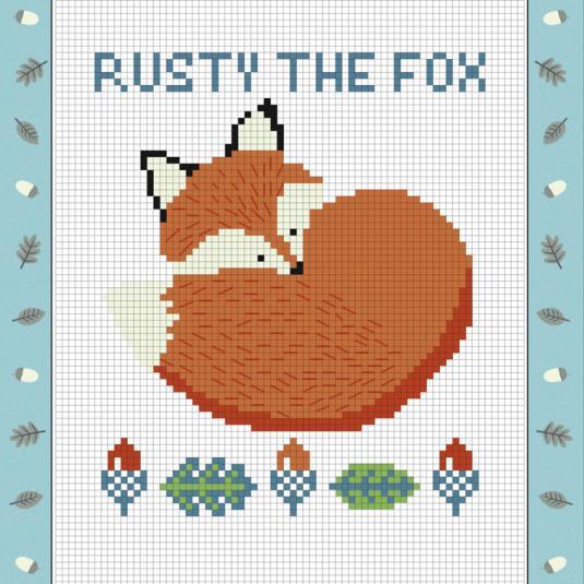 Rusty The Fox Cross-stitch Kit