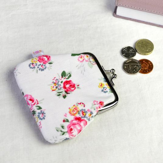 Chintz pink Oilcloth Coin Purse