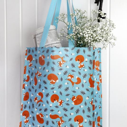 Rusty The Fox Design Shopper Bag