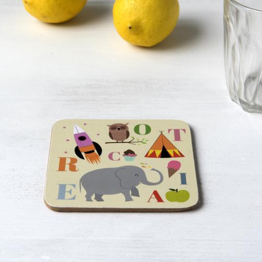 A B C Design Coaster