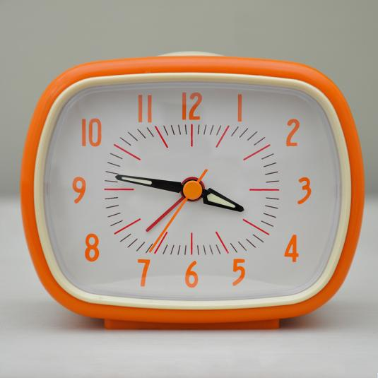 Orange Alarm Clock Bakelite