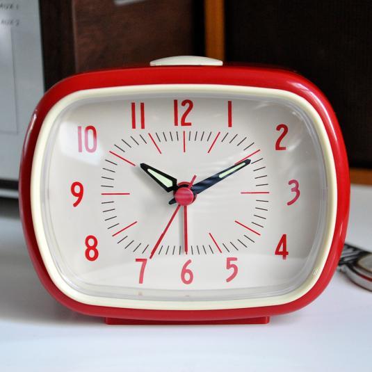 Red Alarm Clock Bakelite