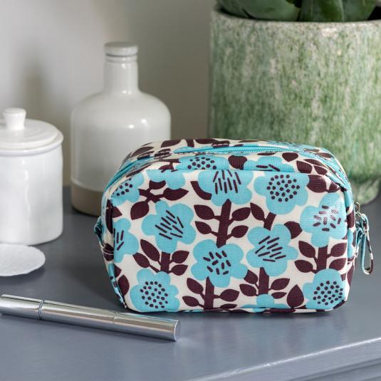 Astrid Flower makeup bag with internal pocket