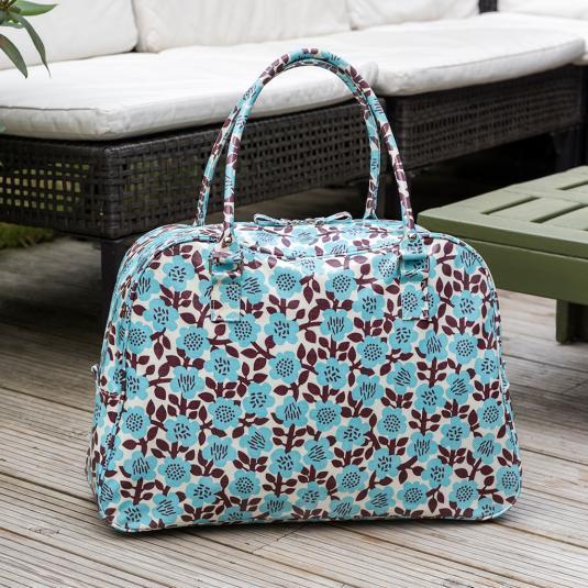 Astrid Flower travel bag with internal pockets