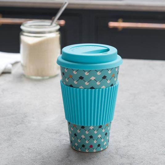 Atomic Blue 400ml Bamboo Travel Mug