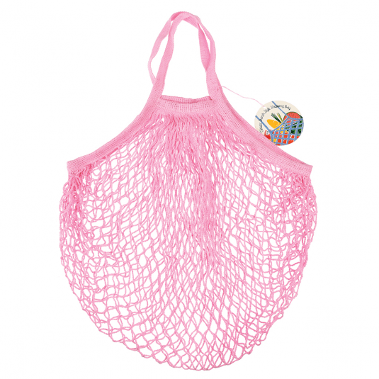 Baby Pink French Style String Shopping Bag