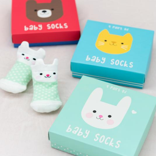newborn baby set s of socks - giftboxed
