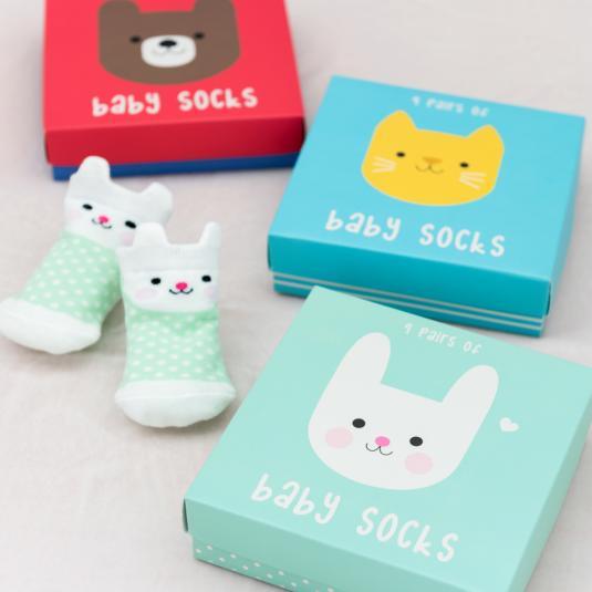 newborn baby set of socks - giftboxed