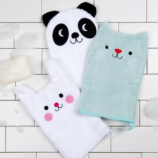 Bath mitts for kids